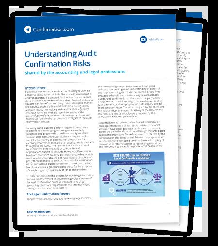 White paper jurídico – Como entender os riscos de confirmação de auditoria
